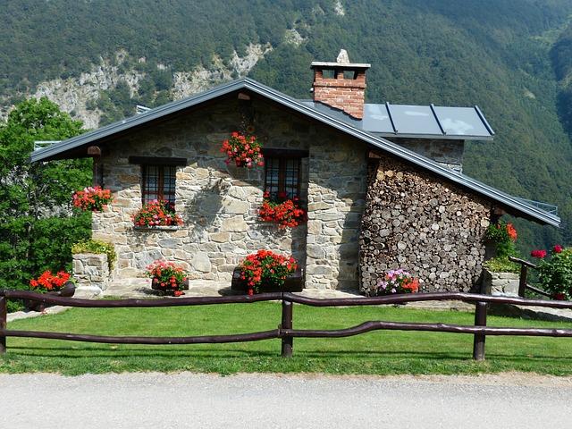 kamenná horská chata