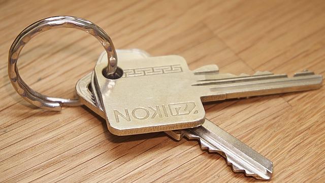 klíče od nového bytu