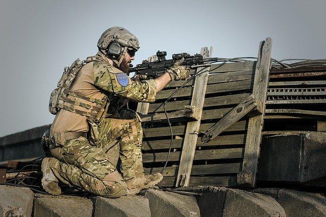 voják v akci