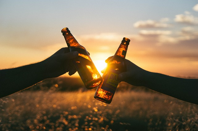 láhve před sluncem